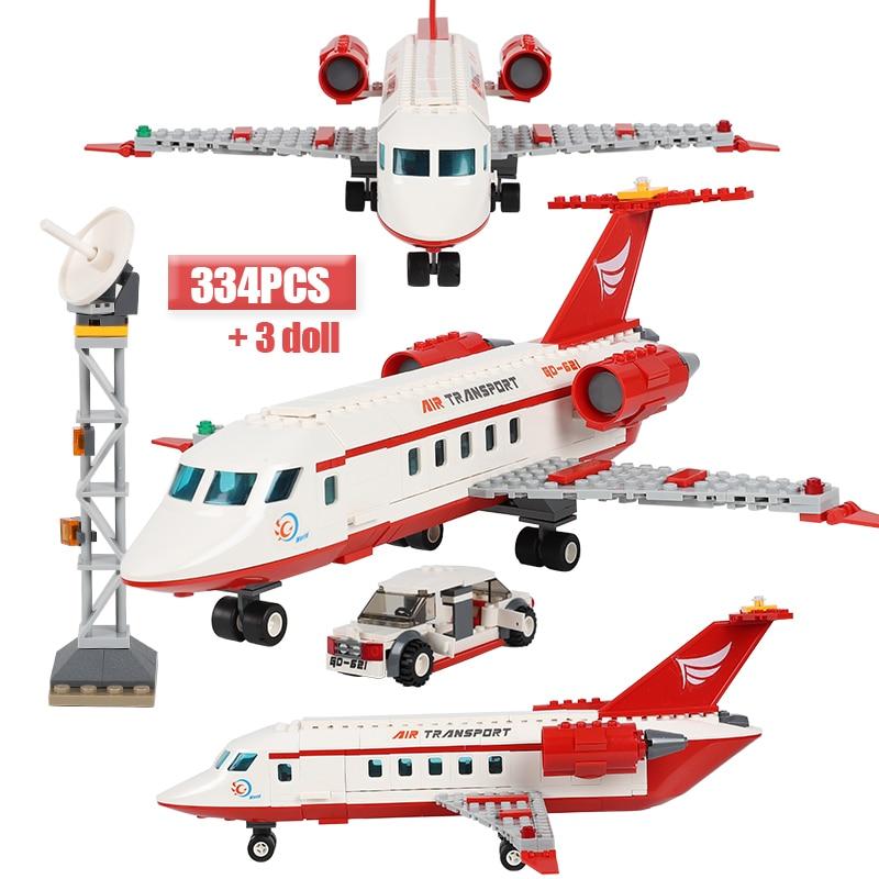 Stadt Flugzeug Bausteine Sets Ziegel Air Transport Figuren Modell Serie Technic Spielzeug Für Kinder