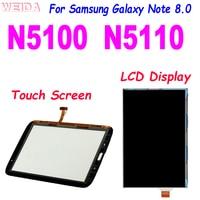 100% тест для Samsung Galaxy Note 8,0 N5100 N5110 GT-N5100 GT-N5110 ЖК-дисплей сенсорный экран дигитайзер стекло сенсор Замена