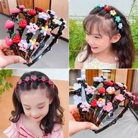 cute flower strawberry hair band for girls child hair clip handmade hairbands headband birthday gifts headwear hair accessories