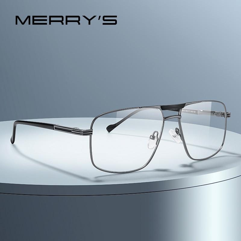 aliexpress.com - MERRYS DESIGN Men Classic Square Glasses Optics Frame Luxury Double Bridge Prescription Glasses Frames Optical Eyewear S2012
