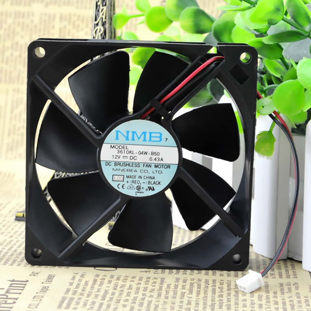 For NMB 3610KL-04W-B50 original authentic 12V 0.43A 9225 UPS cooling fan high quality dual ball bearing fan 92 * 92 * 25MM