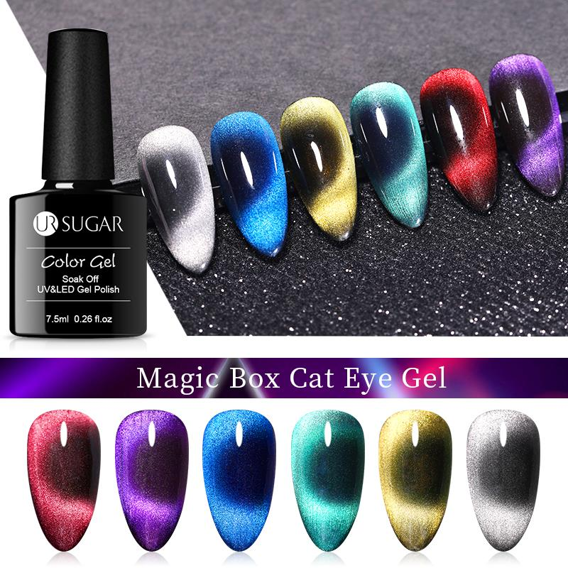 UR SUGAR 9D Chameleon Magnetic Cat Eye Nail Gel Polish Long Lasting Galaxy Shining Magnet Nails Nail Art Soak Off UV Gel Polish