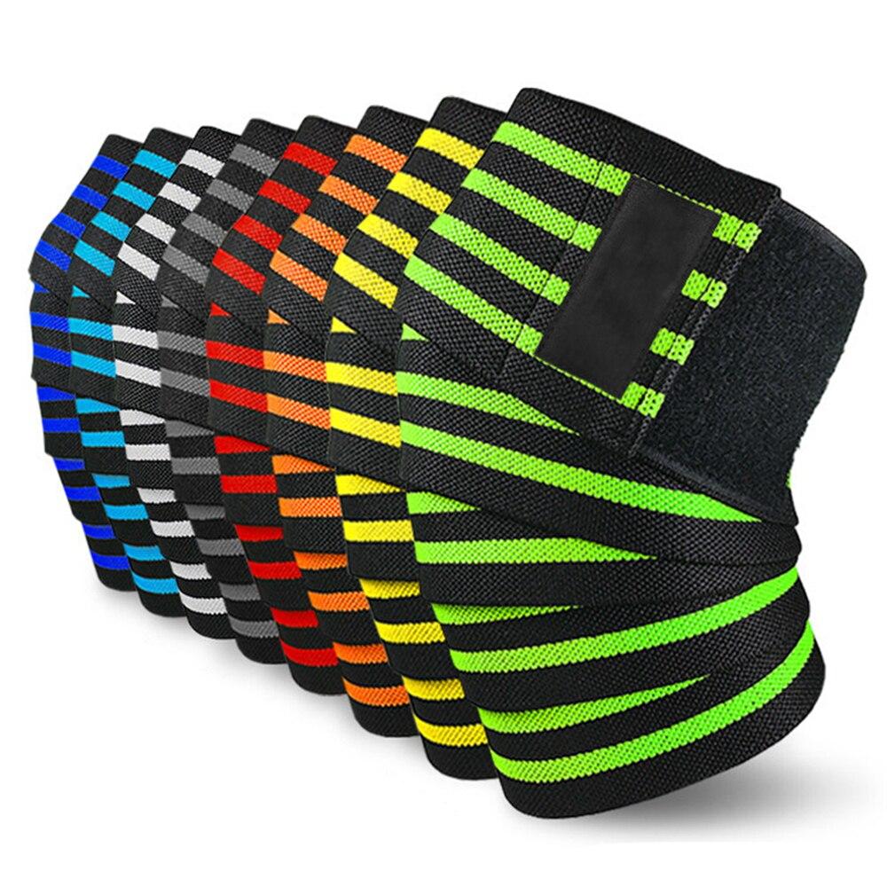 Rodillera SFIT, rodillera elástica para levantamiento de pesas, rodillera para entrenamiento en sentadillas, rodillera, 1 par