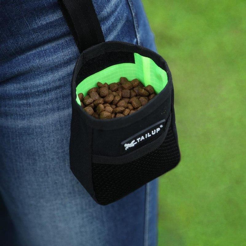 Bolsa de comida portátil para adiestramiento al aire libre de mascotas, bolsa de entrenamiento obediencia verano Oxford para snacks, bolsa de Nylon para perros