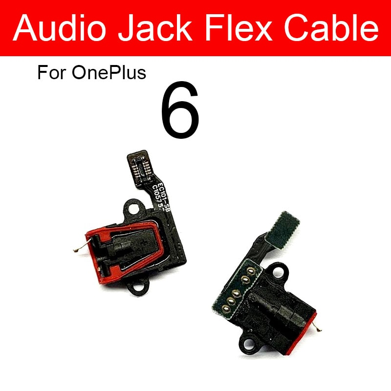 Audio Jack Board For Oneplus 1+6 A6000 A6003 Headphone/Earphone Port Flex Ribbon Cable Replacement Repair Parts Tested Works