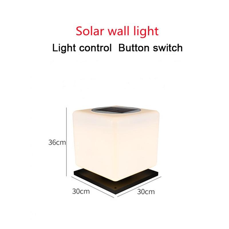 Solar Wall Lamp LED Lights Control Outdoor Door Post 3.5w Square Wall Head Lamps Household Garden Villa Light Waterproof Column enlarge