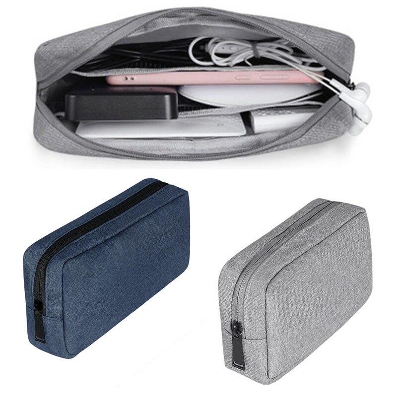 Almacenaje para dispositivos digitales de viaje bolsa portátil Digital cargador de Cable USB auriculares bolsa cosmética bolsa organizadora para almacenamiento caso