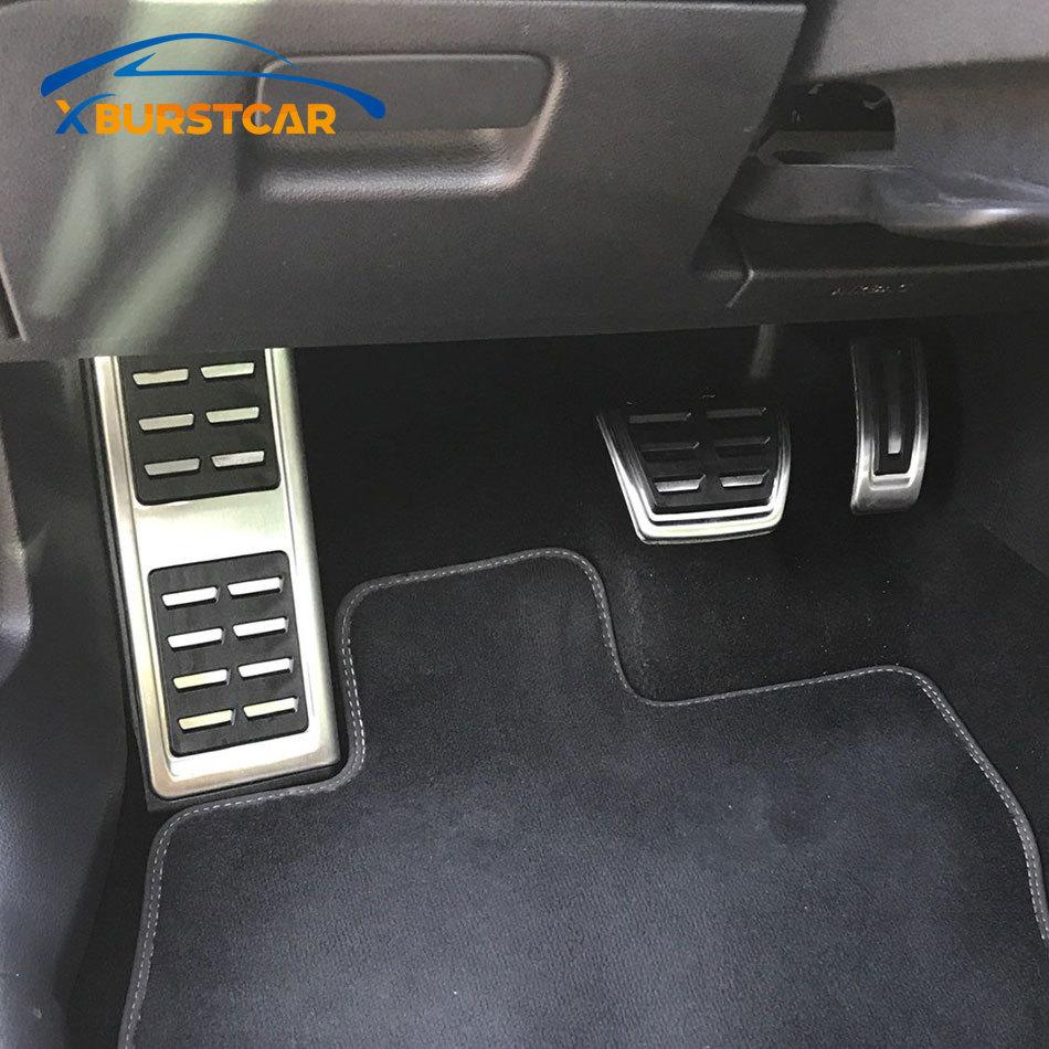 Pedales de coche Xburstcar, cubiertas de Pedal de embrague de freno de combustible para Audi A3 8V S3 RS3 Sportback Cabrio 2012 + A3 8V limusine 2013 +