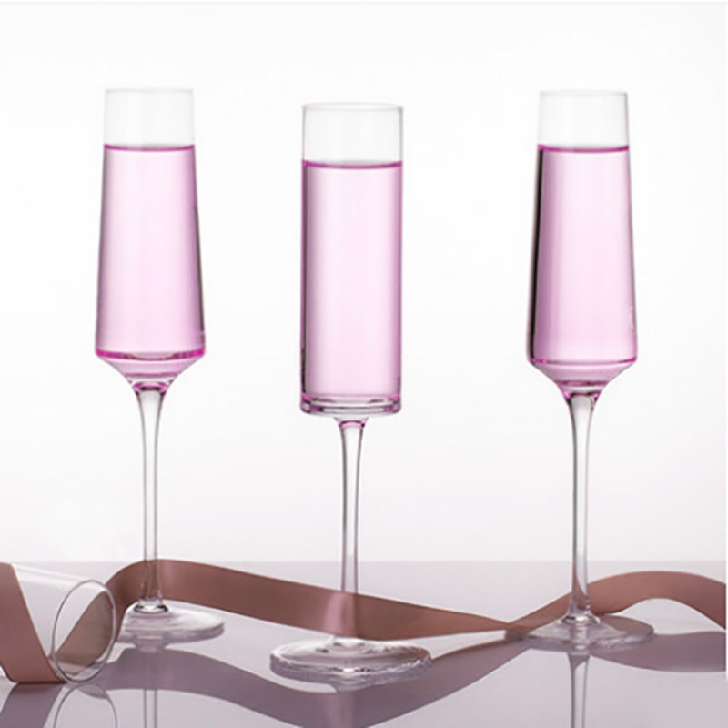 2 قطعة/المجموعة 100-200 مللي الإبداعية الفن شكل كأس الشمبانيا الذهب الفم القدح مهرجان الأسرة تذوق و الرائحة كأس للنبيذ