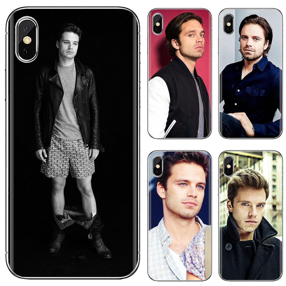 Para iphone ipod touch 11 12 pro 4 4S 5 5S se 5c 6s 7 8 x xr xs plus max 2020 sebastian stan bucky barnes impressão capa macia saco