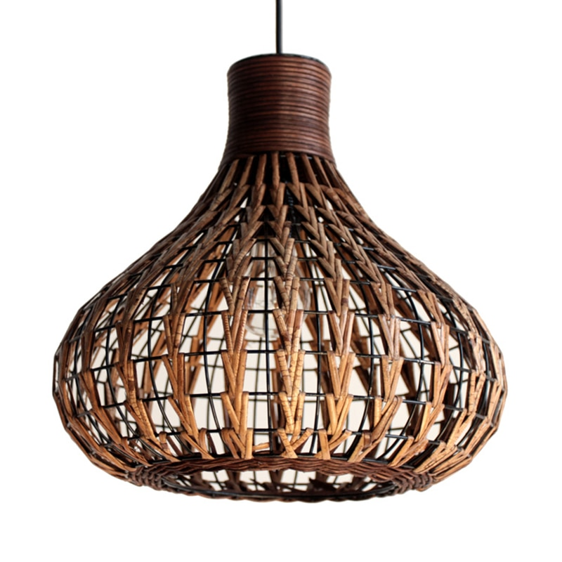 Lámpara colgante de estilo del sudeste asiático, lámpara colgante de vid, proyecto de hotel, iluminación colgante E27/E26, iluminación interior
