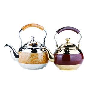 2L Stainless Steel Whistling Tea Kettle Food Grade Tea Pot With Heat-proof Handle