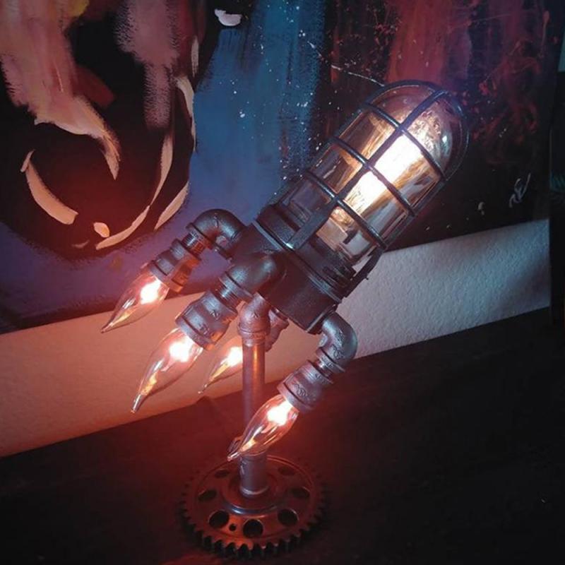 ثلاثية الأبعاد صاروخ ضوء الفضاء المكوك مصباح LED ضوء الليل Desketop السرير ديكور الجدول مصباح عيد الأب الأطفال هدية لعشاق الفضاء
