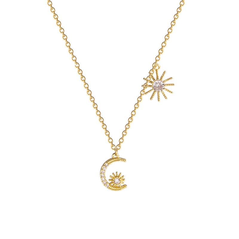 Exquisite Super Fairy Sweet Stellaruna Necklace Female Simple web celebrity Premium Sensation Small Stellarum Pendant Necklace