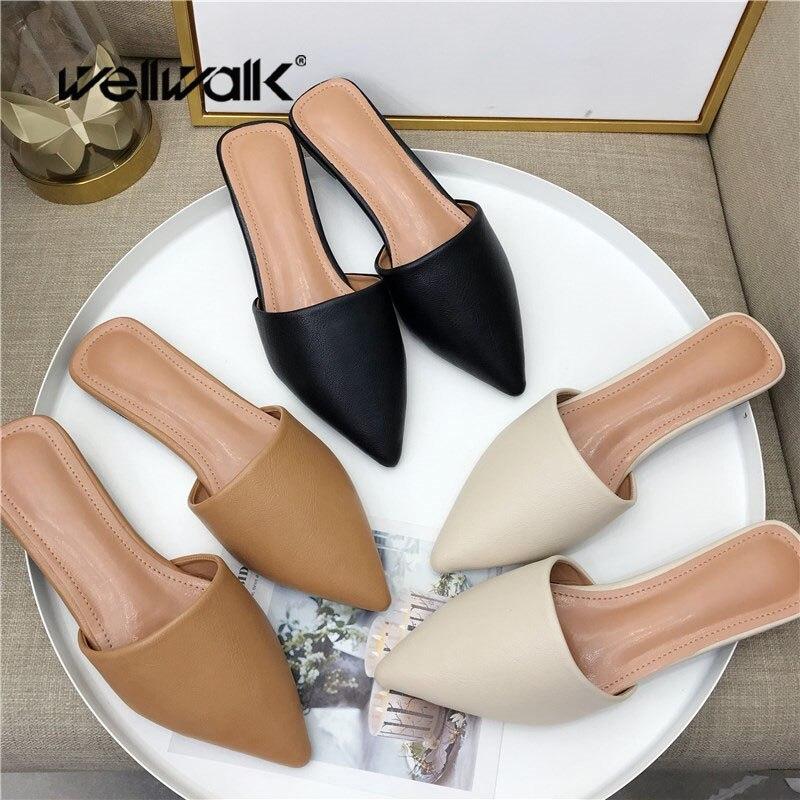 Brand Slippers Women Mules Shoes Women Slides Ladies Home Slippers Women's Slides Female Mules Flats Shoes Ladies Fashion Shoes
