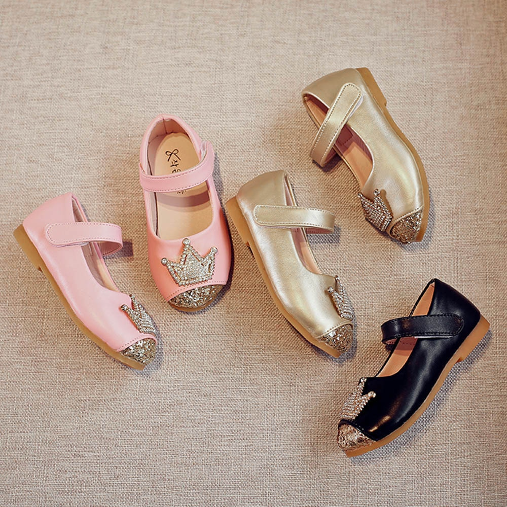 2019 niño niños niñas bebé cordón princesa corona sandalias solo Shoess 824