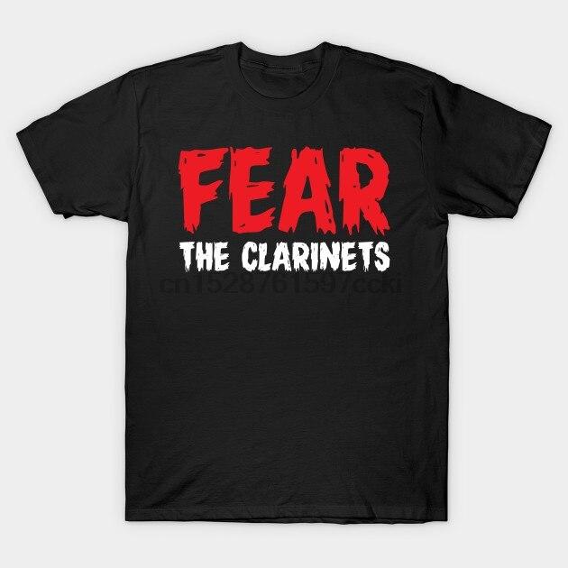 Camiseta para hombre, Camiseta con estampado de la banda de la marcha de los clarinetes Fear, camiseta para hombre