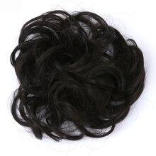 Extension de cheveux synthétique résistante à la chaleur TOPREETY 30gr Chignon bouclé cordon élastique Updo beignet Q5