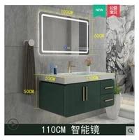 nordic bathroom cabinet combination modern minimalist bathroom washbasin american solid wood washstand basin cabinet washstand