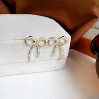s925 needle sweet jewelry bow earrings delicate design sweet temperament high quality aaa zircon earrings for girl lady gifts