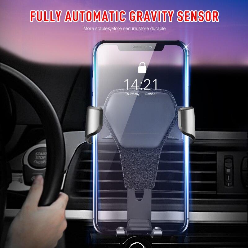 Soporte de teléfono móvil para coche, soporte de parabrisas para coche, para Iphone11 8 7, para Huawei, Samsung, Xiaomi, GPS, soporte de teléfono para coche