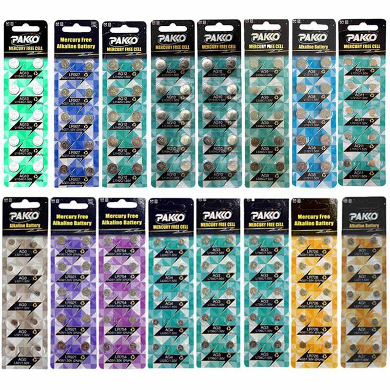 10 unids/lote AG4 SR626SW LR626 377 377A 377S 177 batería de botón electrónico celular reloj pilas de botón