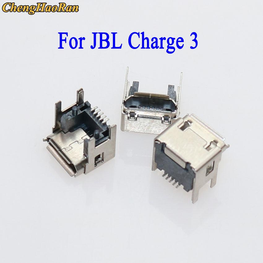 ChengHaoRan, 2-10 Uds., reemplazo para jbl-charge 3, Altavoz Bluetooth, conector de base USB, toma de carga, Puerto Micro USB