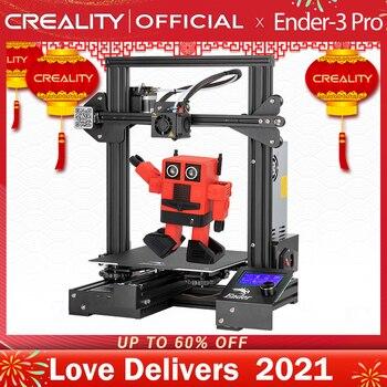 CREALITY – Imprimante 3D Ender-3 Pro, kit d'impression, en coupure de courant, reprise grâce à la protection par l'alimentation, surface d'impression magnétique pour retirer les impressions de la plaque de construction