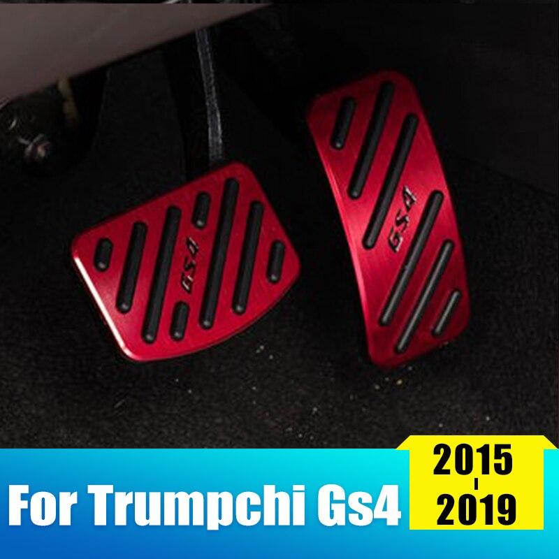 Aleación de aluminio coche acelerador pedal freno pedal antideslizante almohadilla cubierta para Trumpchi GS4 2015 2016 2017 2018 accesorios de 2019