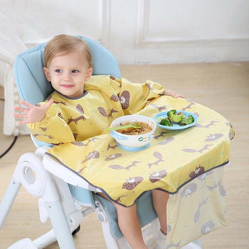 Lange Mouwen Baby Bib Kids Burp Doek Voeden Bib Kind Schort Kiel Baby Accessoires