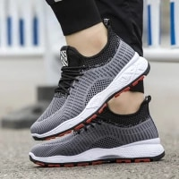 men air mesh casual sneakers outdoor light breathable sports black tennis shoes running shoes for man trainer male fashion trend