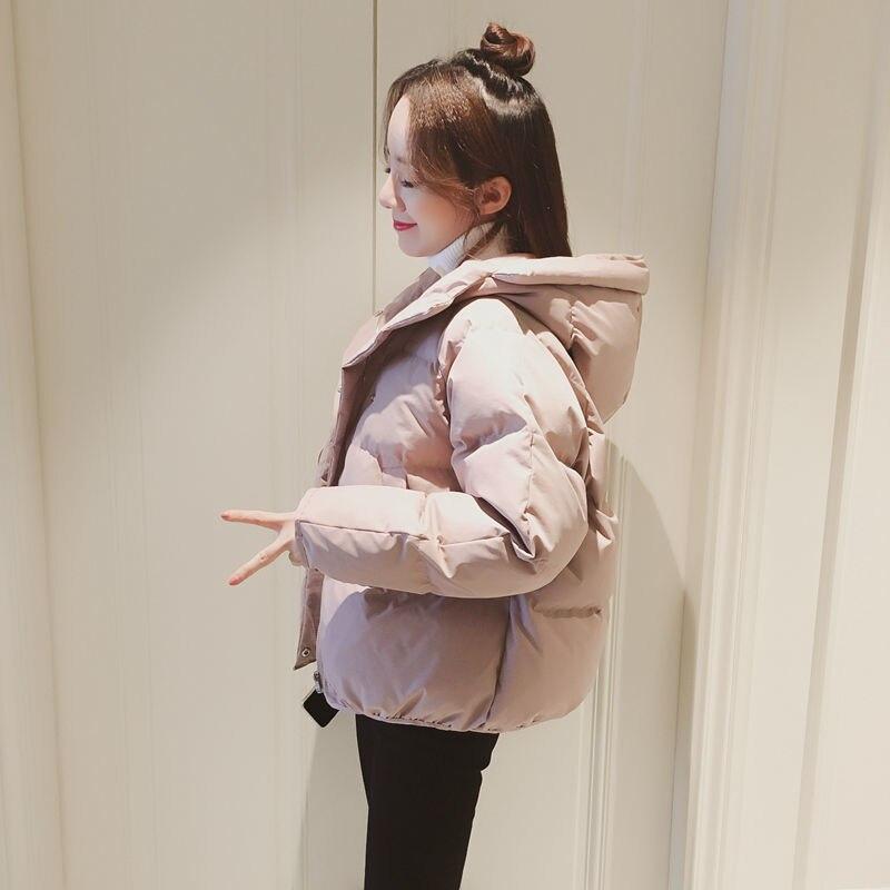 Зимняя стеганая куртка Женская Короткая свободная куртка в Корейском стиле хлопковая куртка маленькая стеганая куртка зимняя одежда