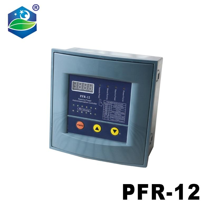 JKW58 PFR-12 معامل القدرة 380v 10 الخطوات 50/60Hz قوة رد الفعل التلقائي تعويض تحكم مكثف ل 50/60HZ
