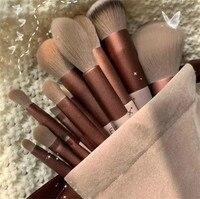 13 шт., набор зеленых кистей для макияжа бровей