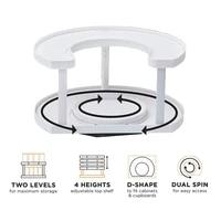 updated multifunctional extendable organizer shelf oilproof non slip tray holder 360 rotating adjust spice storage rack kitchen