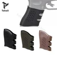 totrait pistol rubber protect cover grip glove anti slip glock holster hunting accessories anti slip for glock pistol handle