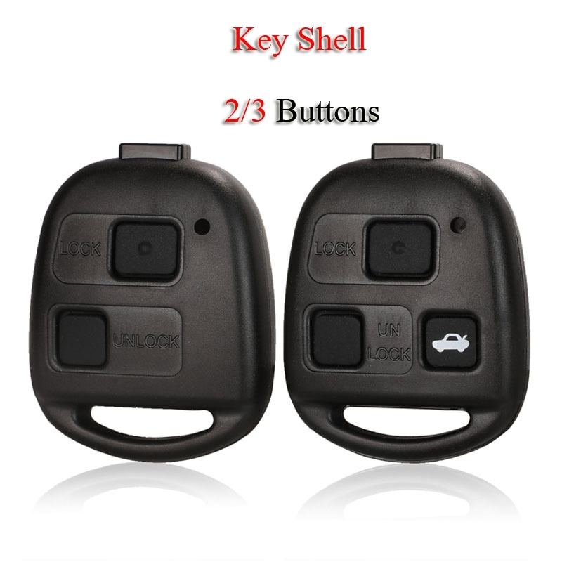Kutery Remote Smart Car Key Shell For Lexus RX300 ES300 LS400 GX460 For Toyota Corolla Camry RAV4 2/3Buttons Case Fob Cover