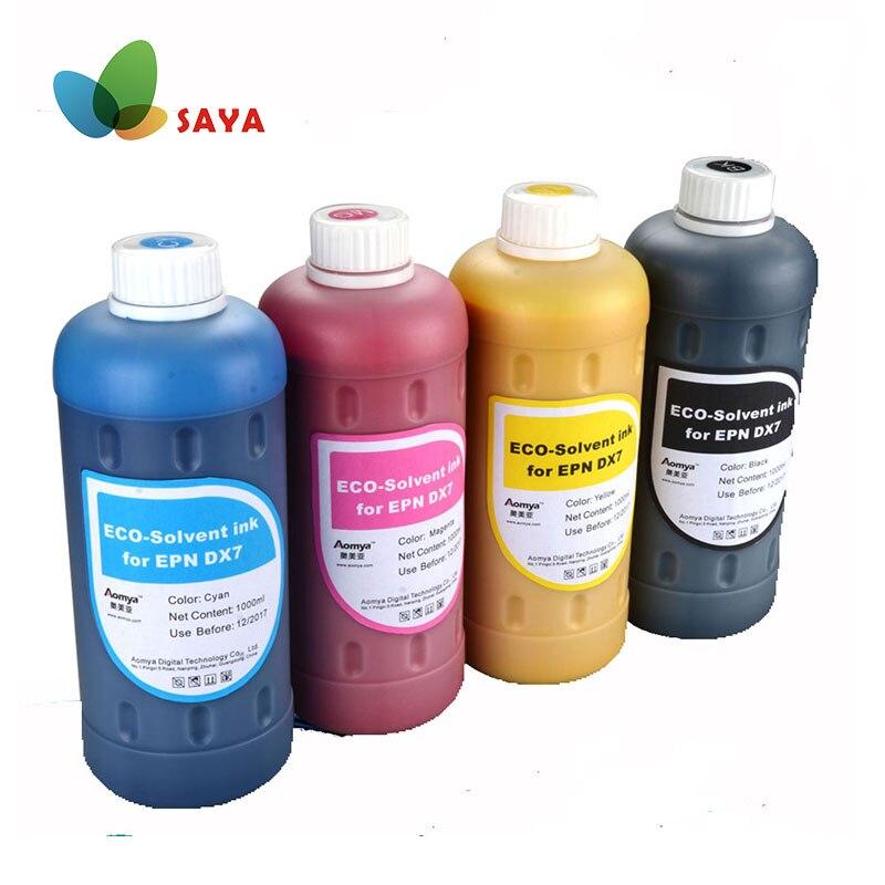 Tinta ecosolvente 500mlx4 Uds para impresora Epson Stylus Pro7450 9450 4 colores negro cian Magenta amarillo