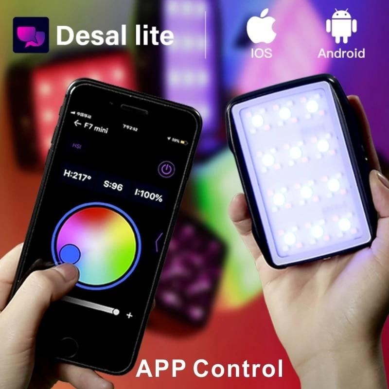 Photography Light F7 mini Pocket RGB LED Light Video Photo Fill light Magnetic APP Control Photography Lights Dropshipping enlarge