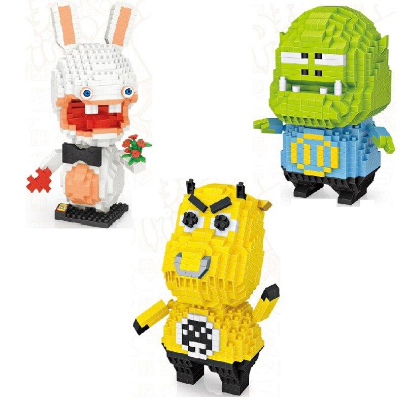 LOZ алмазные блоки 600 шт + Мультяшные буйвола Orc животные игры персонажи строительные блоки фигурки мини кирпичные игрушки для детей подарок