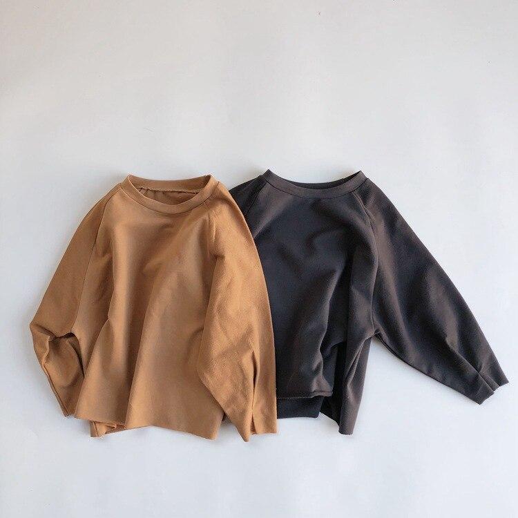 Childrenswear 2020 Frühling Neue Schönheit Samt mit Langen ärmeln T-shirt Mädchen Shirts Tops