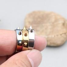 Self Defense Ring Personal Defense Ring Weapon Titanium Steel Men Women Knuckles Ring for Self-defense - Random Color