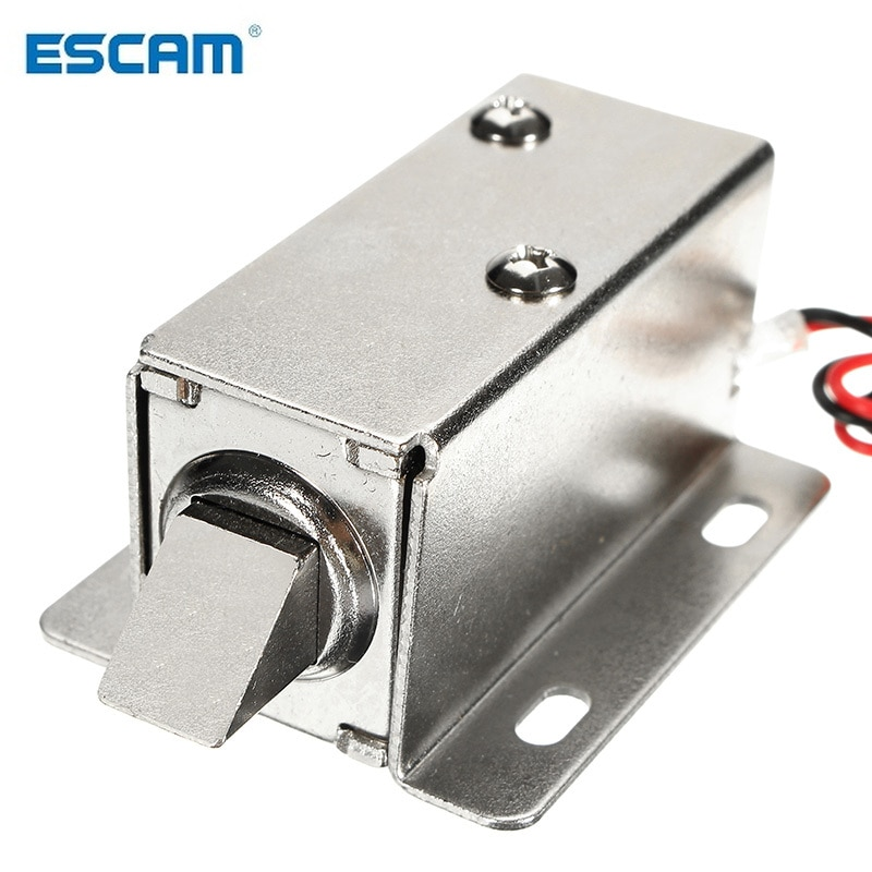 ESCAM 12V DC 1.1A Electric Lock Assembly Solenoid Cabinet Drawer Door Lock Low-Power Smal Automatic Door Electric Locks hot sale dc 12v 24v open frame type solenoid for electric door lock