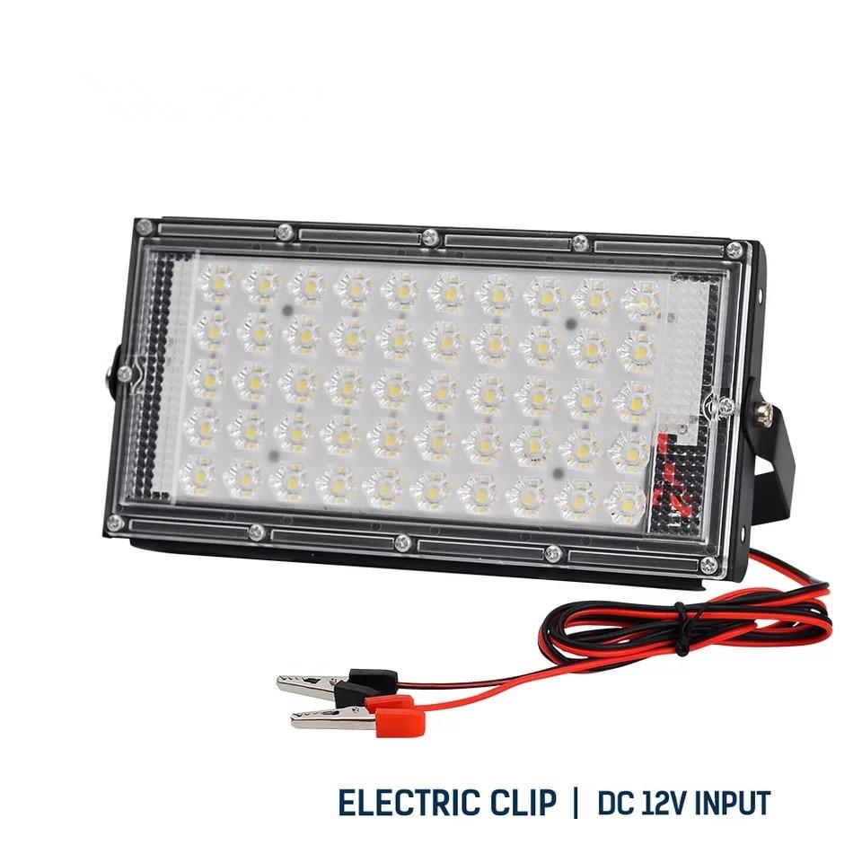Battery DC12V LED Flood light 50W perfect power Projection lamp colorful street  waterproof landscape lighting IP65 spotlight