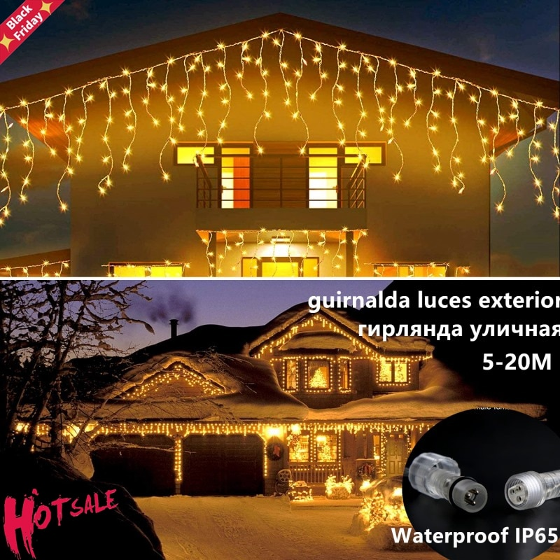 Guirnalda de Luces LED de Navidad para exteriores, Luces navideñas de Navidad,...