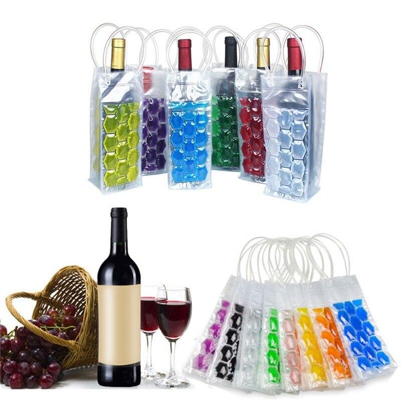 Portable Liquor Ice-cold Tool Rapid vino botella congelador bolsa PVC enfriador de refrigeración bolsa de hielo cerveza refrigeración Gel titular portador
