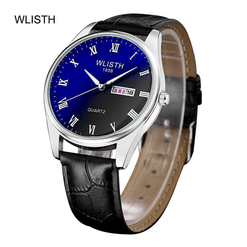 WLISTH Couple Quartz Male Watches Fashion Blu-Ray Watch Waterproof Date Clock Male Sports Watches Men Quartz Casual Wrist Watch wlisth fashion men s watches steel strap watch for men waterproof watches quartz wristwatch date male watch clock for men