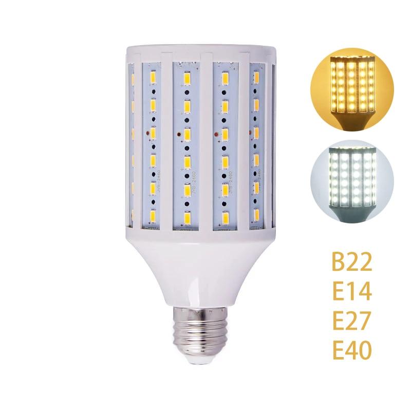 bulb e27 220v led high power corn lamp e26 110v smd5730 lamparas led light 25w 35w 45w aluminium fan cooling radiator lighting New LED Bulb Lamp 12W 15W 25W 30W 40W 50W 60W 80W 100W SMD5730 Corn Spot Light Cold Warm White Lights Ac 220V E27 E26 E39 E40