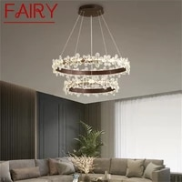 fairy nordic pendant lights gold modern luxury crystal led lamp fixture for home decoration