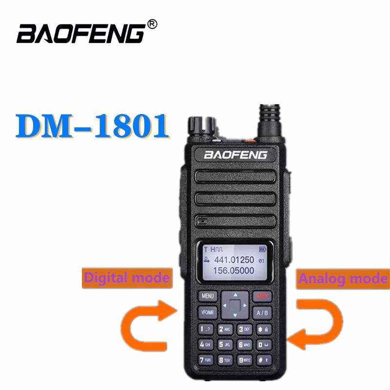 2021 Baofeng DMR DM-1801 Walkie Talkie VHF UHF 136-174&400-470MHz Dual-Frequency Dual-Slot Digital Radio DM1801 Ham Broadcasting
